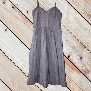 AMERICAN EAGLE OUTFITTERS• SIZE 0•SWEETHEART BUSTIER DRESS•FIT AND FLARE